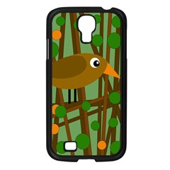 Brown Bird Samsung Galaxy S4 I9500/ I9505 Case (black) by Valentinaart