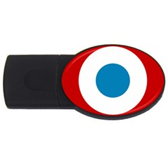Roundel Of The French Air Force  Usb Flash Drive Oval (4 Gb)  by abbeyz71