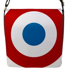 Roundel Of The French Air Force  Flap Messenger Bag (s) by abbeyz71