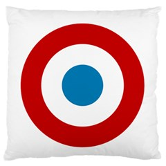 Roundel Of The French Air Force  Large Flano Cushion Case (two Sides) by abbeyz71