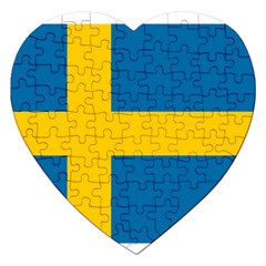 Flag Of Sweden Jigsaw Puzzle (heart)