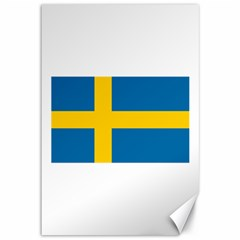 Flag Of Sweden Canvas 12  X 18