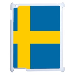 Flag Of Sweden Apple Ipad 2 Case (white) by abbeyz71