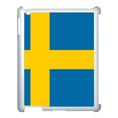 Flag Of Sweden Apple Ipad 3/4 Case (white) by abbeyz71