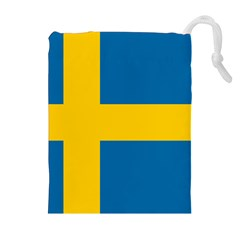Flag Of Sweden Drawstring Pouches (extra Large)
