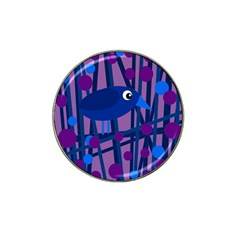 Purple Bird Hat Clip Ball Marker (4 Pack) by Valentinaart