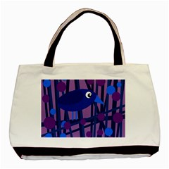 Purple Bird Basic Tote Bag by Valentinaart