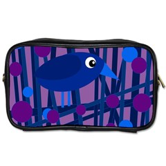 Purple Bird Toiletries Bags by Valentinaart