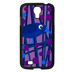 Purple Bird Samsung Galaxy S4 I9500/ I9505 Case (black) by Valentinaart