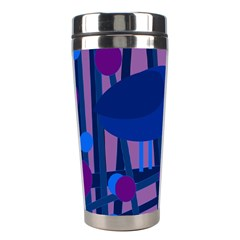Purple Bird Stainless Steel Travel Tumblers by Valentinaart