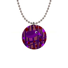 Sweet Purple Bird Button Necklaces by Valentinaart