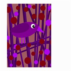 Sweet Purple Bird Small Garden Flag (two Sides) by Valentinaart