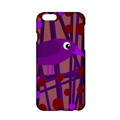 Sweet Purple Bird Apple Iphone 6/6s Hardshell Case by Valentinaart