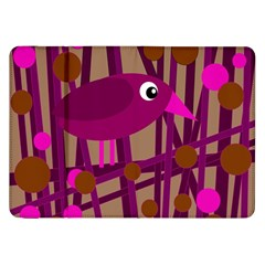 Cute Magenta Bird Samsung Galaxy Tab 8 9  P7300 Flip Case