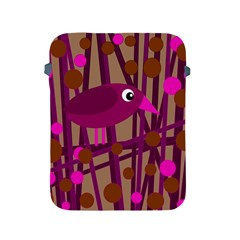 Cute Magenta Bird Apple Ipad 2/3/4 Protective Soft Cases by Valentinaart