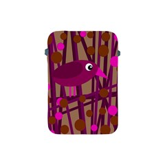 Cute Magenta Bird Apple Ipad Mini Protective Soft Cases by Valentinaart