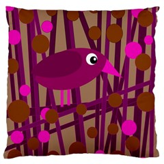 Cute Magenta Bird Standard Flano Cushion Case (two Sides) by Valentinaart