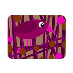 Cute Magenta Bird Double Sided Flano Blanket (mini)  by Valentinaart