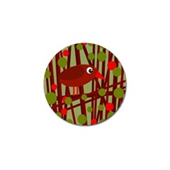 Red Cute Bird Golf Ball Marker (10 Pack) by Valentinaart