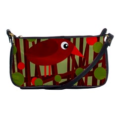 Red Cute Bird Shoulder Clutch Bags