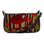 Red cute bird Shoulder Clutch Bags Front