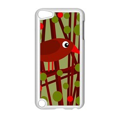 Red Cute Bird Apple Ipod Touch 5 Case (white) by Valentinaart