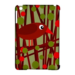 Red Cute Bird Apple Ipad Mini Hardshell Case (compatible With Smart Cover) by Valentinaart