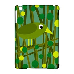 Cute Green Bird Apple Ipad Mini Hardshell Case (compatible With Smart Cover) by Valentinaart