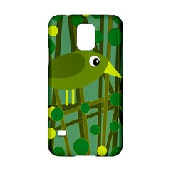 Cute Green Bird Samsung Galaxy S5 Hardshell Case  by Valentinaart