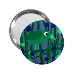 Green And Blue Bird 2 25  Handbag Mirrors by Valentinaart
