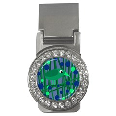 Green And Blue Bird Money Clips (cz)