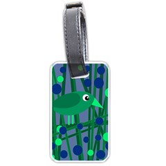 Green And Blue Bird Luggage Tags (two Sides) by Valentinaart