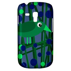 Green And Blue Bird Samsung Galaxy S3 Mini I8190 Hardshell Case by Valentinaart