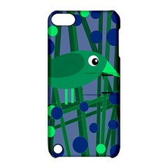 Green And Blue Bird Apple Ipod Touch 5 Hardshell Case With Stand by Valentinaart