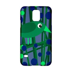 Green And Blue Bird Samsung Galaxy S5 Hardshell Case