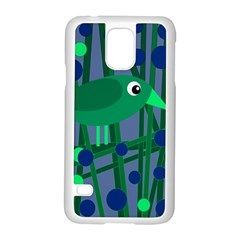 Green And Blue Bird Samsung Galaxy S5 Case (white) by Valentinaart