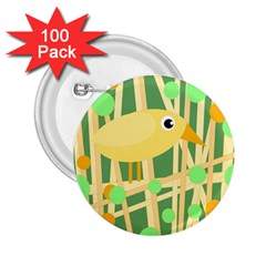 Yellow Little Bird 2 25  Buttons (100 Pack)  by Valentinaart
