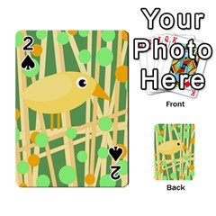 Yellow Little Bird Playing Cards 54 Designs  by Valentinaart