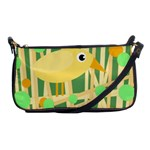 Yellow little bird Shoulder Clutch Bags Front