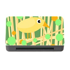 Yellow Little Bird Memory Card Reader With Cf by Valentinaart