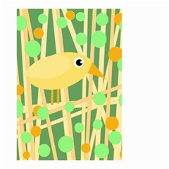Yellow Little Bird Small Garden Flag (two Sides) by Valentinaart