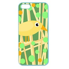 Yellow Little Bird Apple Seamless Iphone 5 Case (color) by Valentinaart
