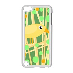 Yellow Little Bird Apple Ipod Touch 5 Case (white) by Valentinaart