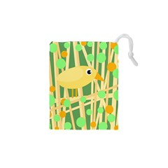 Yellow Little Bird Drawstring Pouches (xs)