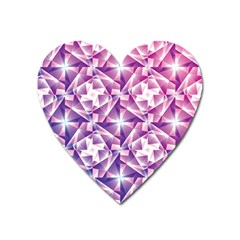 Purple Shatter Geometric Pattern Heart Magnet by TanyaDraws