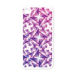 Purple Shatter Geometric Pattern Apple Iphone 4 Case (white) by TanyaDraws