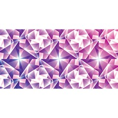 Purple Shatter Geometric Pattern You Are Invited 3d Greeting Card (8x4) by TanyaDraws