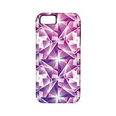 Purple Shatter Geometric Pattern Apple Iphone 5 Classic Hardshell Case (pc+silicone) by TanyaDraws