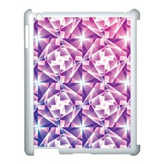 Purple Shatter Geometric Pattern Apple Ipad 3/4 Case (white) by TanyaDraws