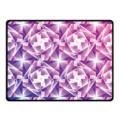 Purple Shatter Geometric Pattern Double Sided Fleece Blanket (small)  by TanyaDraws